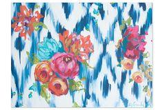 Kristy Gammil, Floral on Navy Ikat on OneKingsLane.com