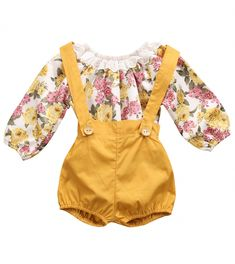 237bb3e1894 SALE 40% OFF + FREE SHIPPING! SHOP Our Yellow Floral Set for Baby Girls