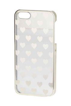 Coque pour iPhone 5/5s: Coque transparente en plastique rigide imprimé d'un motif doré. Convient aux iPhone 5/5s.