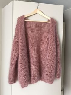 Bernadette Sweater - Everything About Knitting Knitted Poncho, Knit Jacket, Knit Cardigan, Angora, Knit Fashion, Knitting Designs, Pulls, Mantel, Knitwear
