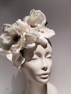 Ivory Fascinator, Fascinator Headband, Fascinators, Headpieces, Flower Headdress, Bridal Headdress, Skinny Headbands, Floral Headbands, Billie Holiday