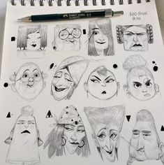 female faces sketches