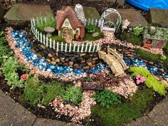 Whimsical Outdoor Fairy Garden