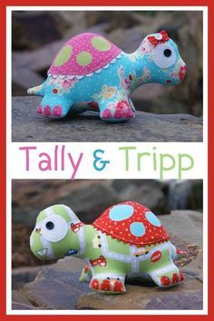 TALLY & TRIPP TURTLES MELLY & ME SOFT TOY PATTERN FABRIC KIT
