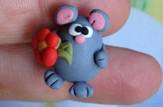 Mouse Polymer Clay Creation by bdbworld on Etsy No 4 by bdbworld, $6.00