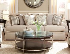 2081 Sofa With Low Profile Rolled Arm By Huntington House