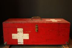 vintage first aid medical box on etsy