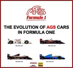 The Evolution of AGS cars in Formula One