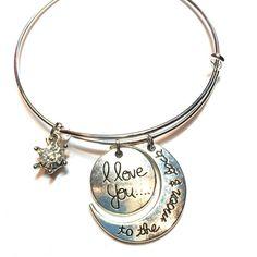 I love you to the moon and back bangle bracelet I love you to the moon and back bangle bracelet Jewelry Bracelets