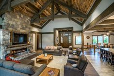 Plan Luxurious Mountain Ranch Home Plan with lower level expansion – rustic home interior Rustic House Plans, Craftsman House Plans, Rustic Barn Homes, Modern Rustic Homes, Modern Farmhouse, Craftsman Style, Rustic Sunroom, Rustic Lake Houses, Rustic Loft