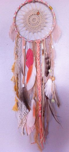 ❁~Atrapa Sueños~❤Crochet❤ dreamcatcher by rachael rice http://rachaelrice.com/art/custom-orders