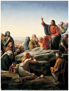 """Mc 4,26-34  """"De la más alta rama  del tronco de David  suscitó el Señor un renuevo""""  El Sermón de la Montaña-Carl Heinrich Bloch"""