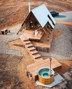 A Frame House Plans, A Frame Cabin, Tiny House Plans, Tiny House Cabin, Cabin Homes, Triangle House, Shipping Container House Plans, Cabin In The Woods, Cabin Plans
