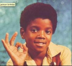 Once a little boy with a dream. Or maybe he just wanted to sing. Happy Birthday Michael Jackson. Gone but not forgotten.