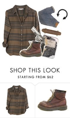 """""""Hmmm"""" by jaylahazel ❤ liked on Polyvore featuring Xirena, Plane, Smith & Wesson and Dr. Martens"""