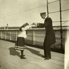 Maria Nikolaevna dancing with a officer, 1908.