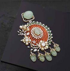 Antique Jewellery Designs, Fancy Jewellery, Beaded Jewelry Designs, Jewelry Design Earrings, Gold Jewellery Design, Bead Jewellery, Jewelry Patterns, Gold Jewelry, Antique Jewelry
