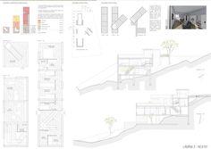 Casas en pendiente: 17 ejemplos de cómo adaptarse a un terreno inclinado - AboutHaus Floor Plans, How To Plan, Log Cabin Houses, Home Layouts, Home Plans, House, Floor Plan Drawing, House Floor Plans