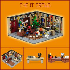 The LEGO IT Crowd...I need to get these plans and build it.