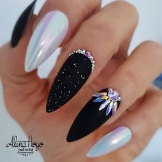 Trend Stiletto Nails in Stiletto Coffin Nails; Nails Acrylic; – Trend Stiletto Nails in Stiletto Coffin Nails; New Year's Nails, Hair And Nails, Gel Nails, Toenails, Acrylic Nails, New Years Nail Designs, Nail Art Designs, Nails Design, Bling Nails
