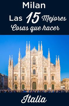 Visit milan: top 15 things to do and must see attractions italy travel ba. Best Places In Italy, Cities In Italy, Cool Places To Visit, Cinque Terre Itália, Milan Travel, World Travel Guide, Italy Travel Tips, Italy Tours, Voyage Europe