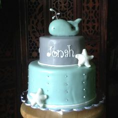 Jonah and the Whale Baby Shower cake