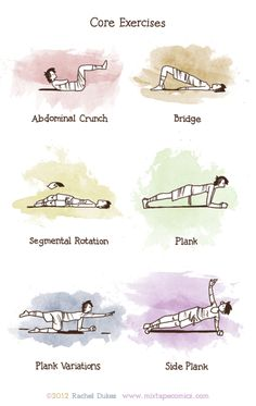 With the start of the new school year, I've gotten back into the routine of doing core exercises. These six moves are my minimum work out.It doesn't look like much but I would highly recommend this work out to anyone that spends most of their time indoors at a desk. My full routine can take over an hour; but even a mere thirty minutes of this a day feels so much better than nothing.
