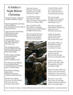 A Soldier's Night Before Christmas... Please read the poem and write Congress after the holidays asking to please not reduce retirement benefits for our Military.