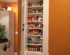 Etonnant Spice Rack Recessed Between Wall Studs