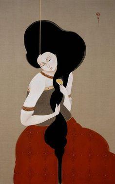 Combing Hair, By: Hayv Kahraman: