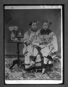 Old China girls have their feet bound so they do not grow, the foot no larger than 4 inches  the bones are forced to become deformed.