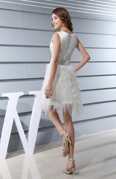 Modern A-line Sleeveless Zipper Satin Wedding Guest Dresses - iFitDress.com  Types Of 9bd521387