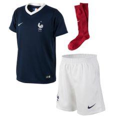 Nike France Preschool World Soccer Home Performance Kit - Blue Soccer Kits, Kids Soccer, Soccer Uniforms, Soccer Jerseys, Baseball Tips, Shops, Nike Store, Football, Preschool