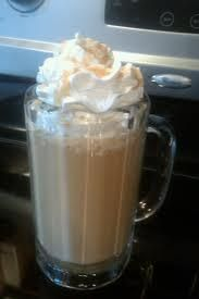 McDonald's caramel frappe - use strong coffee!