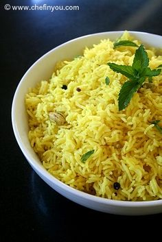 Turmeric and Peppercorn Rice - Vibrant yellow with slight hint of cardamom , this simple, quick and budget friendly rice recipe is a must in your repertoire.