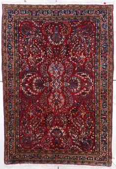 Vintage Sarouk Handmade Persian Antique Oriental Rug #7211 by MosbyAntiqueRugs on Etsy
