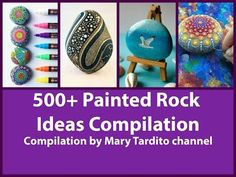500+ Painted Rock Ideas Compilation - Crafts to Make and Sell - YouTube