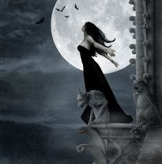 Wolf Moon Full Moon in Cancer January 2011 by Maharani Rutan© On January 2011 at pm EST, PST, the full moon will transit through Cancer at 29 degrees. Even though it s a full moon it is also a delightful moon. Gothic Background, In The Pale Moonlight, Beautiful Dark Art, Gothic Fantasy Art, Wolf Moon, Creatures Of The Night, Magical Creatures, Beautiful Creatures, Goth Art