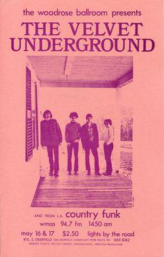Velvet Underground - Woodrose Ballroom 1969 Photo Handbill - Recordmecca