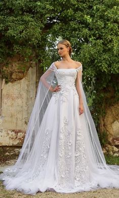 Chrystelle Atallah 2016 Wedding Dresses - World of Bridal 2016 Wedding Dresses, Wedding Dress Trends, Bridal Dresses, Wedding Gowns, Fairy Wedding Dress, Dresses 2016, Wedding Ideas, Mermaid Wedding, Wedding Cape