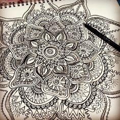 BIFFYBEANS Mandala Doodle by Stephanie Smith. See more at biffybeans.com