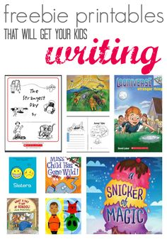 5 Free Printables to Get Your Kids Writing After They Read Writing is more fun when kids have great inspiration.