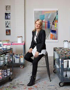 Kristin Baker in her New York City studio. Portrait by Andrea Fazzari