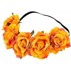MISM Big Flower Headband Fabric Hawaiian Rose Hair Crown Wreath for... ($9.99) ❤ liked on Polyvore featuring accessories, hair accessories, red flower headband, headband hair accessories, flower garland, crown headband and head wrap headbands