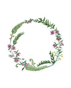 Winter Garden Wreath Print by maggierutherford on Etsy, $23.00
