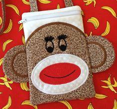 Sock Monkey Purse Set