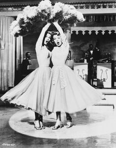 """Vera-Ellen and Rosemary Clooney, """"Sisters, Sisters"""" from 'White Christmas'. We used to watch this every Christmas eve. My grandmother always wanted my sister and I to sing and dance like the Haynes sisters. My little sister didn't really go for it. Vera Ellen, Rosemary Clooney, Old Movies, Great Movies, Funny Movies, Classic Hollywood, Old Hollywood, Hollywood Life, I Movie"""