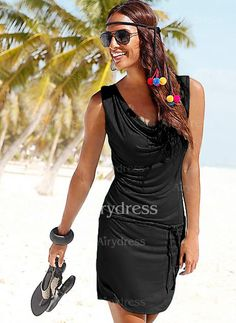 Dress - $16.19 - Polyester Solid Sleeveless Above Knee Casual Dresses (1955127844)