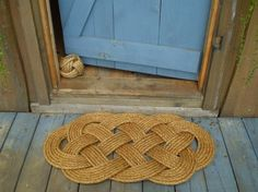 Beautiful door mat from etsy. Though nautical inspired, it would suit myriad styles — from vintage to natural.