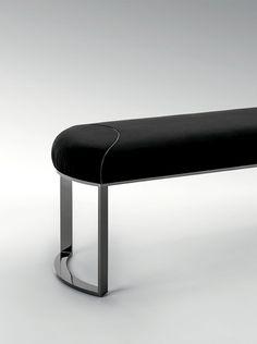 Modern black bench detail | www.bocadolobo.com/ #luxuryfurniture #designfurniture